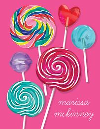 Lollipops Thank You Notes