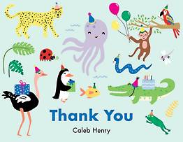 Party Animals Thank You Notes