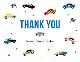 Racecars Thank You Notes
