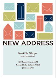 Envelopes Moving Announcement