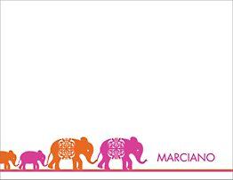Elephants Neon Stationery