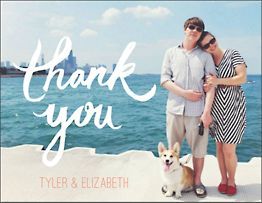 Brush Script Photo Thank You Notes