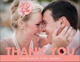 Knockout Photo Thank You Notes