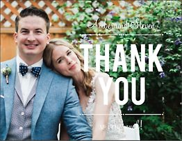 Playbill Photo Thank You Notes