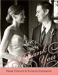 Script Vertical Photo Thank You Notes