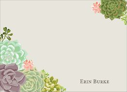 Succulents Stationery