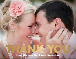 Foil Stamped Bold Photo Thank You Notes