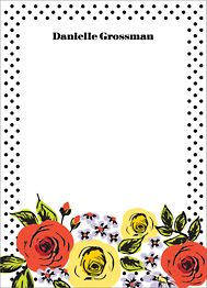 Floral Dots Stationery