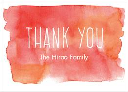 Red Watercolor Thank You Notes
