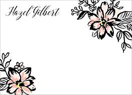 Sketch Blooms Stationery