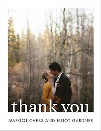 Knockout Thank You Note