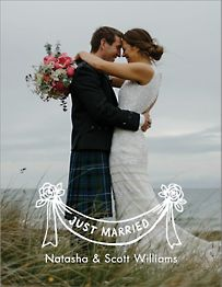 Just Married Banner Thank You Note