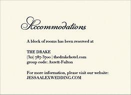 Roses Wedding Information Card
