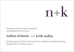 Initials Wedding Invitation