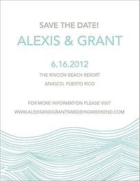 Waves Save the Date Card