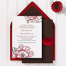 Cottage Blooms Wedding Invitation