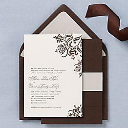 Colonial Stencil Wedding Invitations