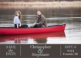 Bold Banner Photo Save the Date Card