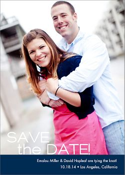 Modern Photo Save the Date Card