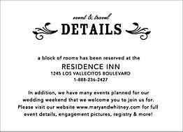 Bistro Wedding Information Card