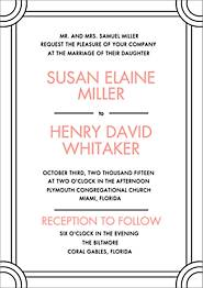 Deco Border Wedding Invitation