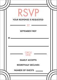 Deco Border Wedding Response Card