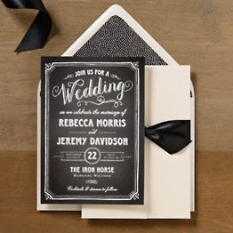 Calligraphy Scrolls Wedding Invitations