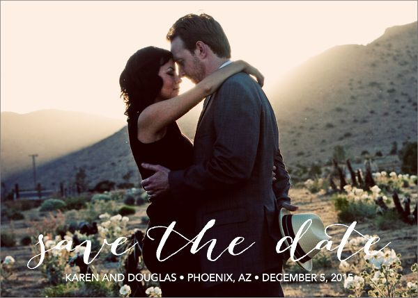 Bombshell Photo Save the Date Card