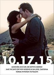 Knockout Photo Save the Date Card