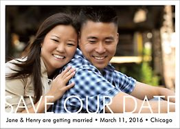 Knockout Photo Save the Date Card - Horizontal