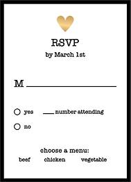 Foil Stamped Amour Wedding Response Card