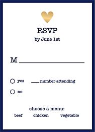 Gold Foil Stamped Amour Color Wedding Response Card