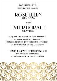 Foil Stamped Scallops Wedding Invitation