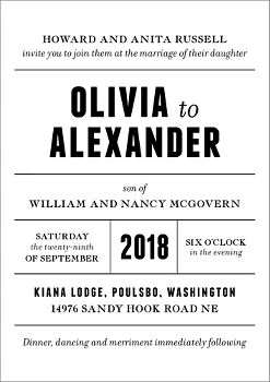 Playbill Wedding Invitation