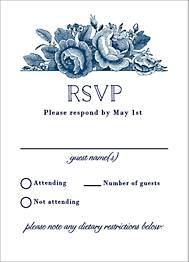Vintage Floral Wedding Response Card