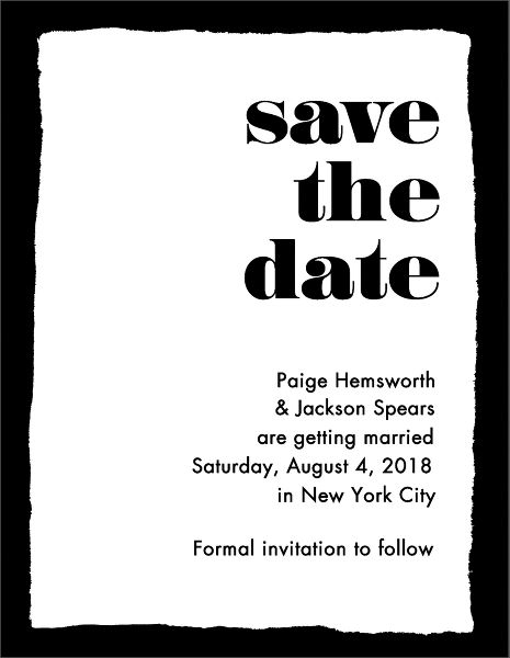 Onyx Save the Date Card