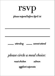 Boulevard Wedding Response Card