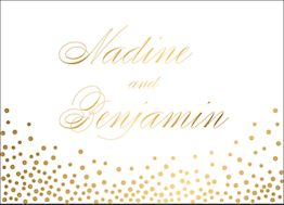 All Foil Champagne Stationery