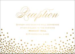 All Foil Champagne Wedding Information Card