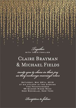 Chandelier Charcoal Wedding Invitation