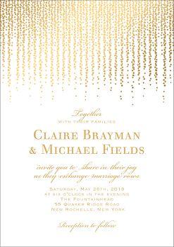 All Foil Chandelier Wedding Invitation