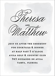 Chateau Wedding Information Card