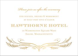 All Foil Filigree Wedding Information Card