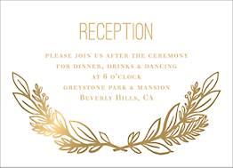 All Foil Le Jardin Wedding Information Card