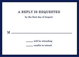 Hemingway Wedding Response Card