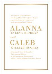 All Foil L'Avenue Wedding Invitation