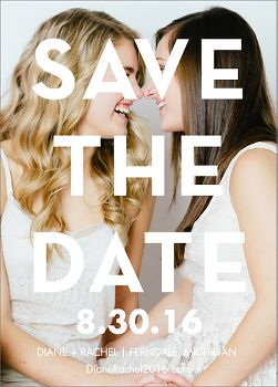 Bold Overlay Photo Save the Date Card