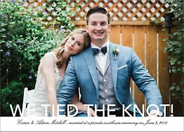 Knockout Photo Wedding Announcement