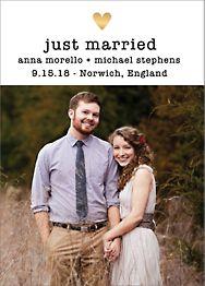 Amour Photo Wedding Announcement