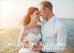 Lowercase Photo Wedding Announcement